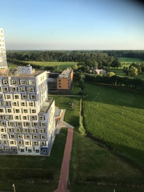 View from the University Halls of Residence.